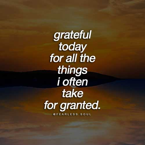grateful for all the things i take for granted