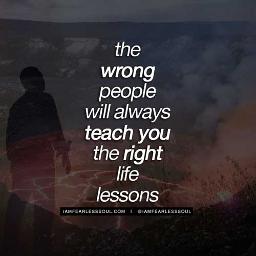 wrong people right lessons