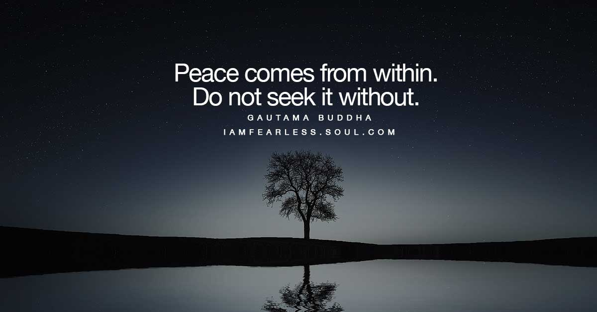 Inner Peace Quotes Simple 10 Inner Peace Quotes To Help You Through Your Challenges