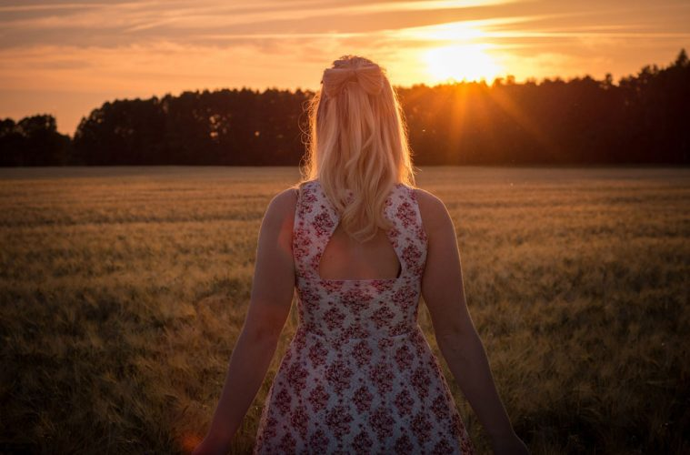 Woman Sunset Inspired Inspirational Motivation Quotes