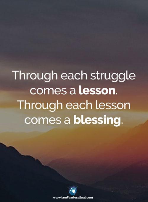 lesson blessing Inspirational