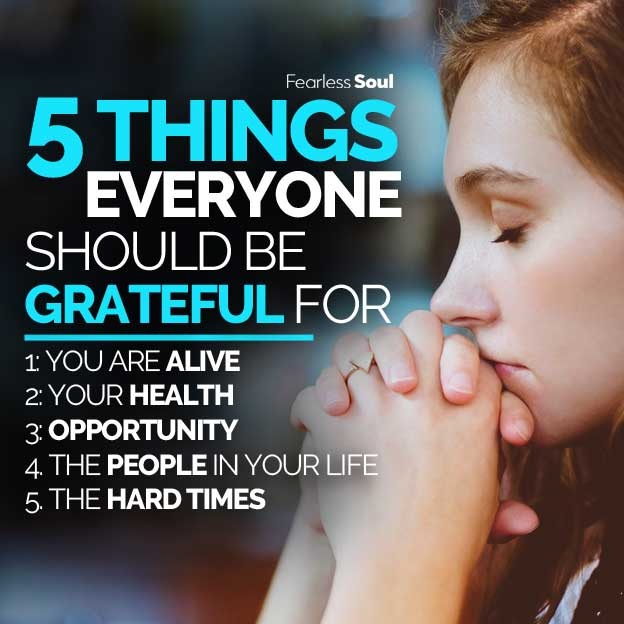 5 things everyone should be grateful for