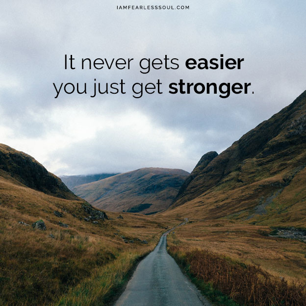 How to Keep Your Motivation When You Can't Reach Your Fitness Goals It never gets easier you just get stronger.