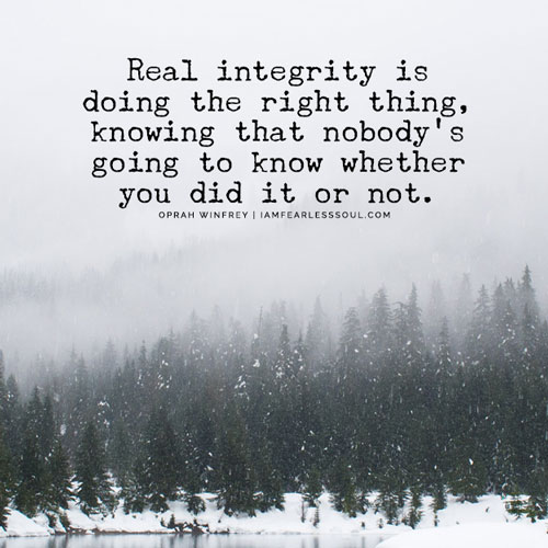 how do you know you're doing the right thing ?