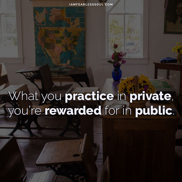 7 Jim Kwik Quotes To Unleash the Power of Your Mind What you practice in private, you're rewarded for in public.