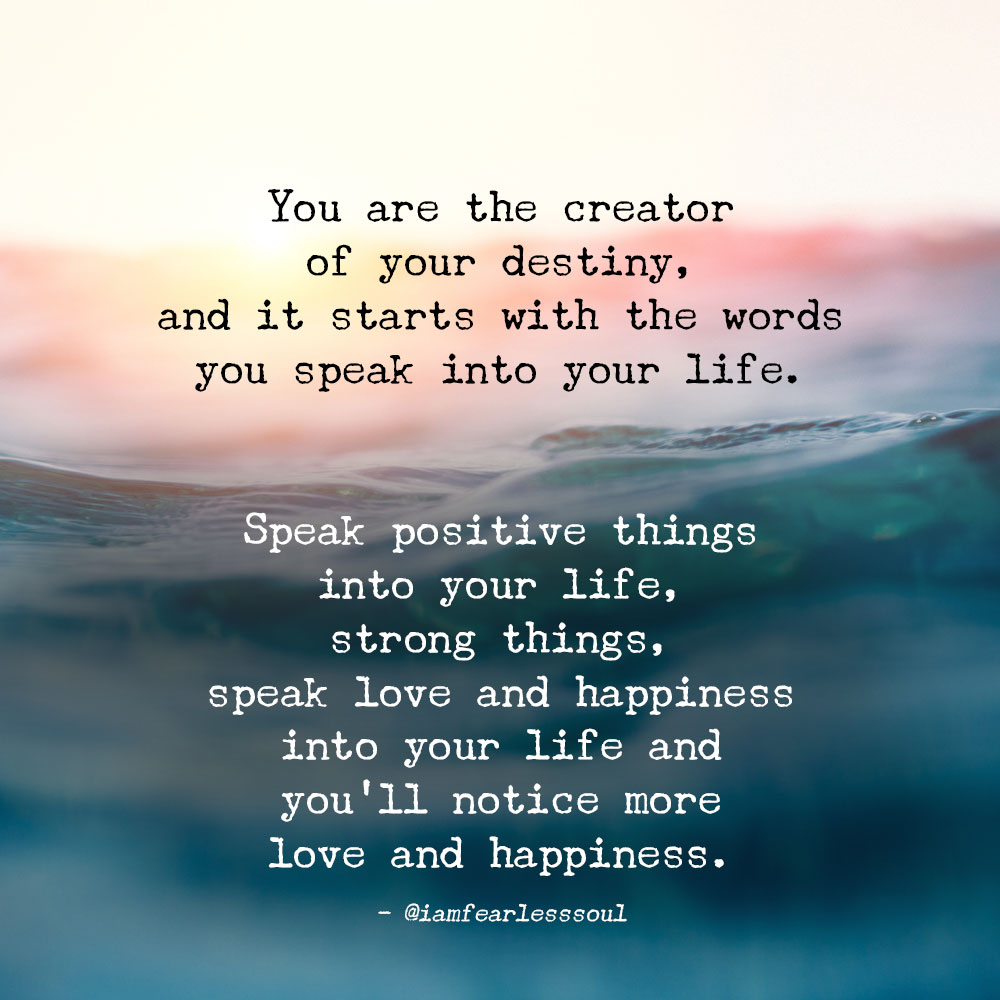 This Is How Powerful Your Words Are Be Careful What You Speak Into