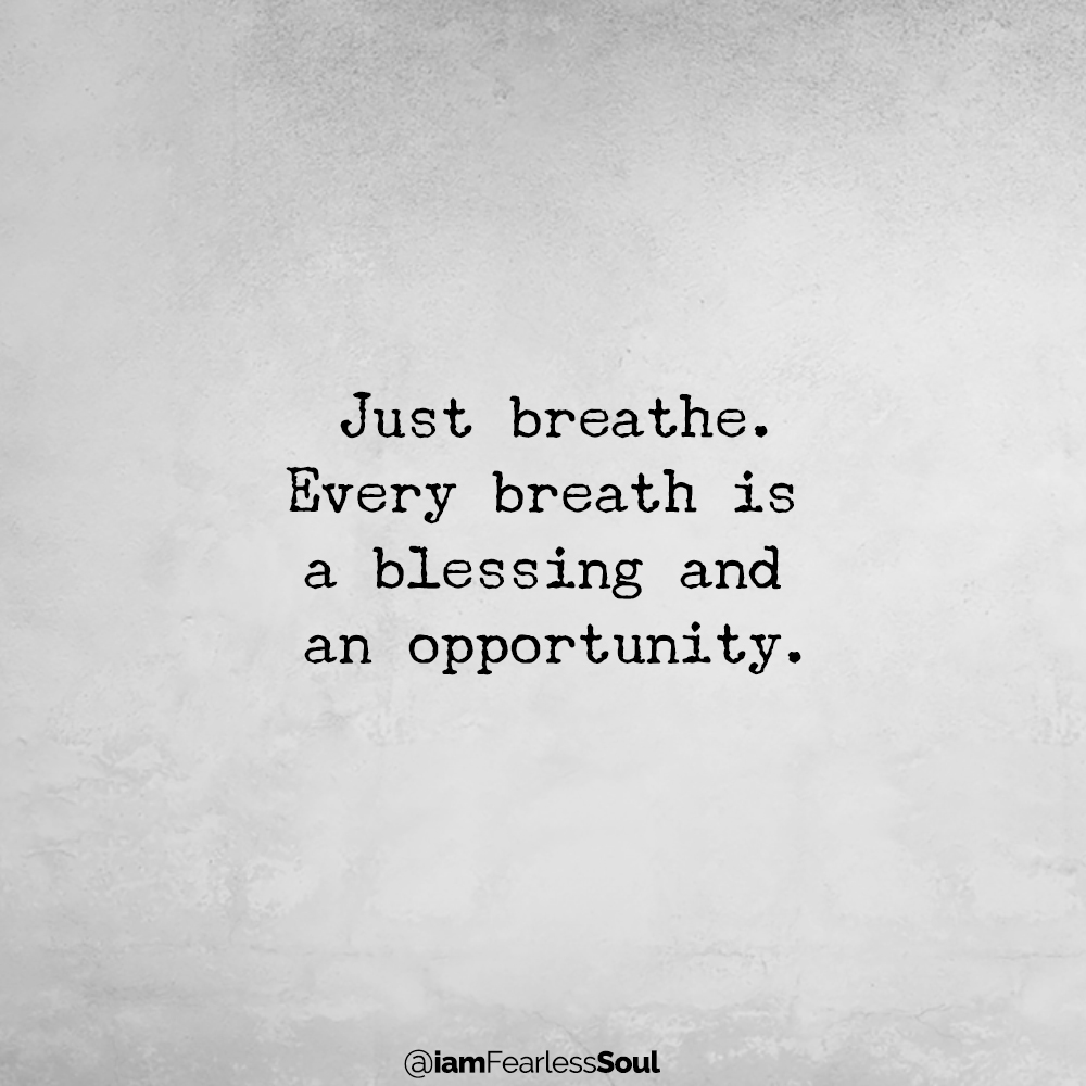 3 Simple Strategies to Help You Stay Calm Over The Holiday Season Just breathe. Every breath is a blessing and an opportunity.
