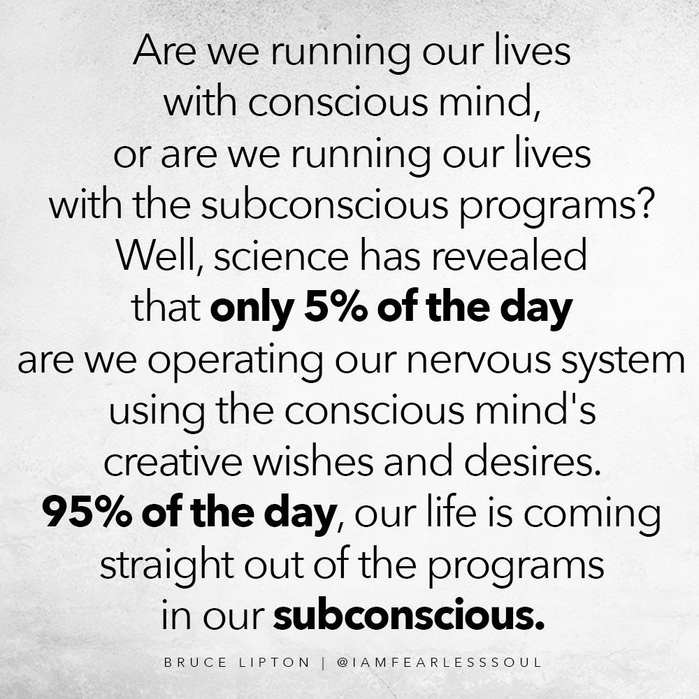 Bruce Lipton subconscious