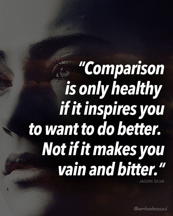 comparison is only healthy