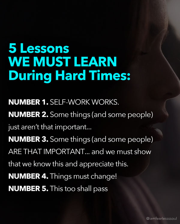 5 lessons in hard times