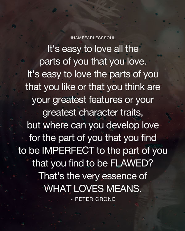 Peter crone in love quote