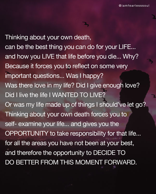 If I die today speech